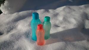 ...und schon schauen die Flaschen wieder tiptop aus!