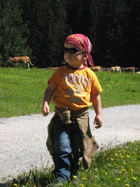 Marcel beim Wandern nahe der Doagl-Alm